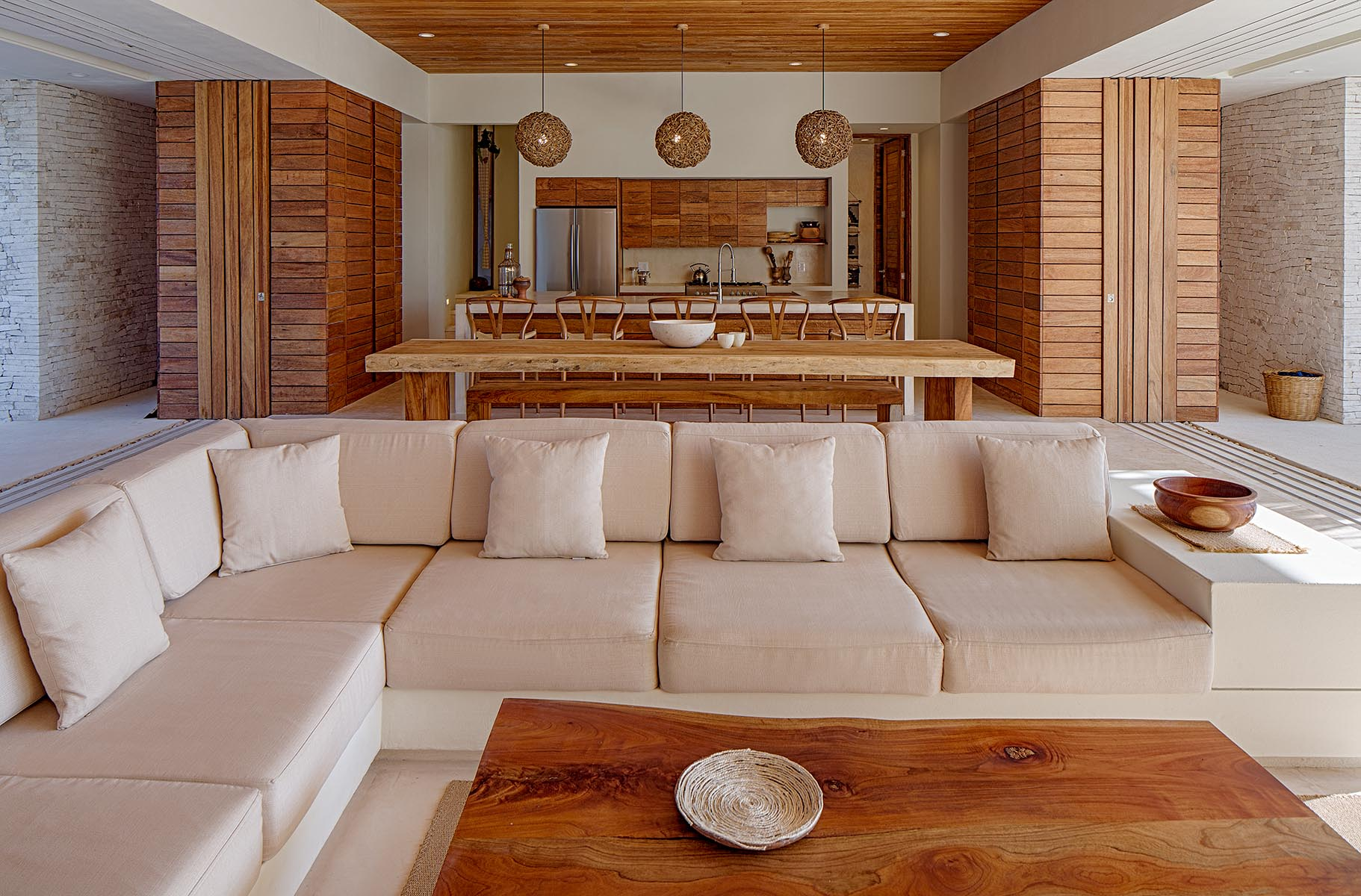Casa xixim beachfront ecoluxe fully staffed private - Decoracion casas de playa ...